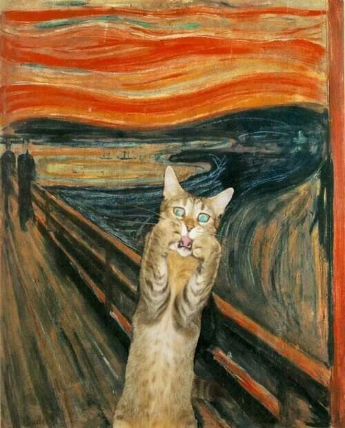 The scream is now the meowwwwww