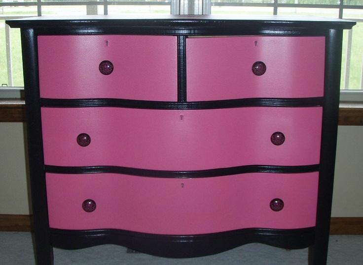 Best 25 black dressers ideas on pinterest black dresser for Black and pink furniture