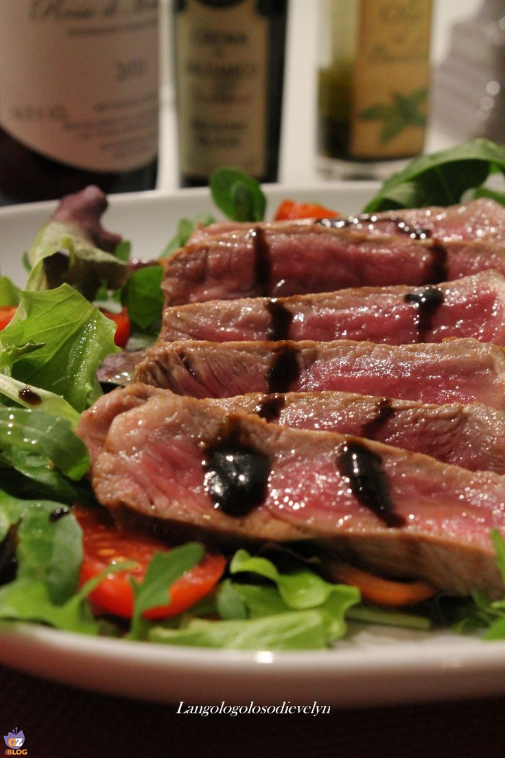 Cut of beef with balsamic vinegar. #Passion #Italy