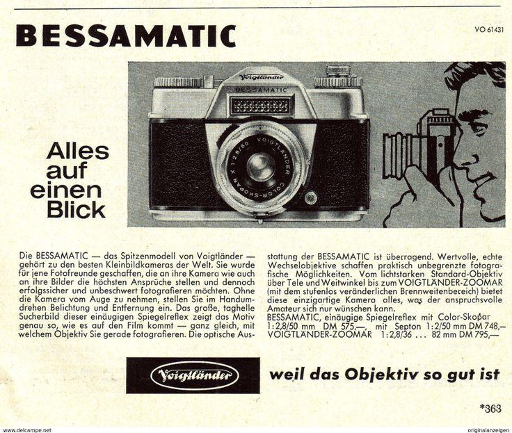 Werbung - Original-Werbung/Anzeige 1961 - VOIGTLÄNDER BESSAMATIC KAMERA - ca. 135 x 110 mm