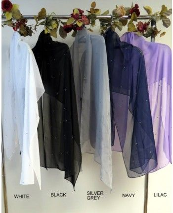 Prod #3116 chiffon shawls with silver sparkles are a best buy at Yours Elegantly for evening shawls and wraps choose any color chiffon shawl and we will have silver sparkles done in 1-2 days it ships fast from CT call 860-355-4184