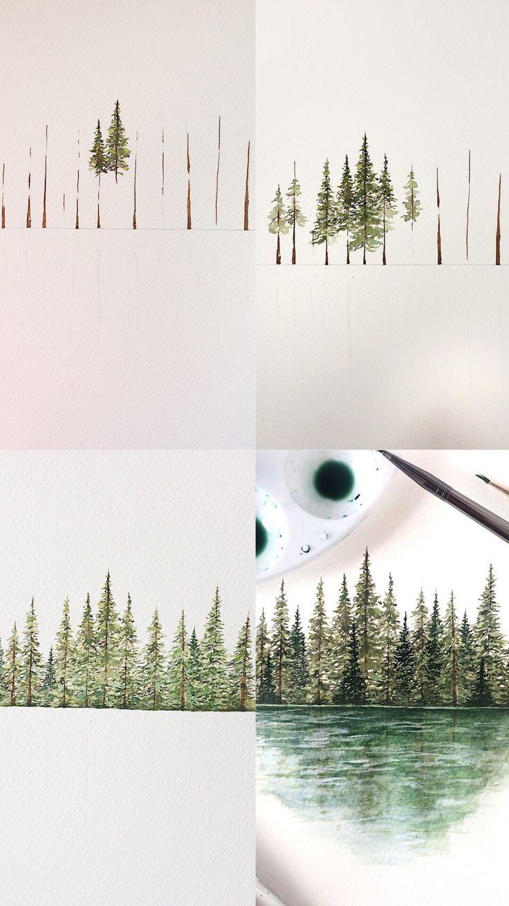 Baummalerei Tutorial – #Malen #Baum #Tutorial