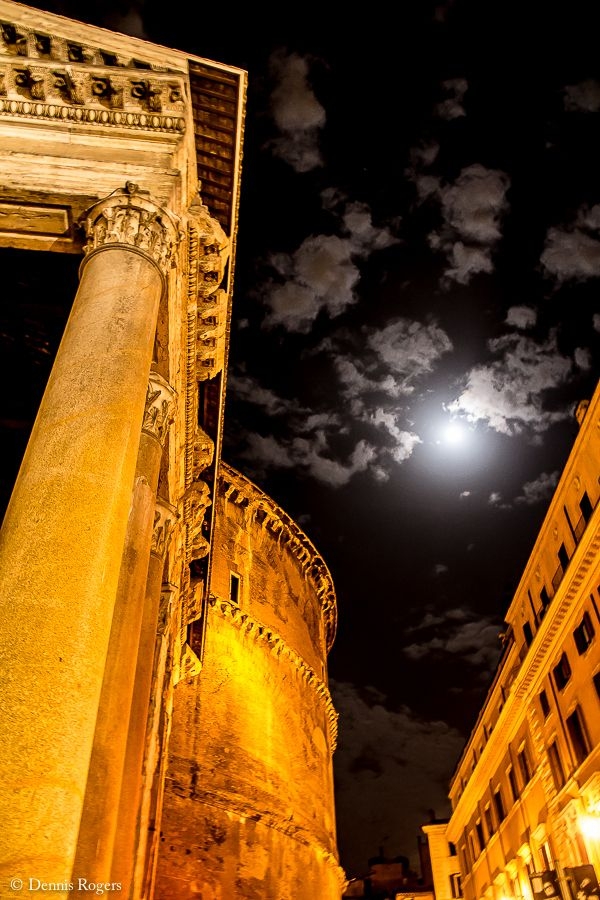 Night at the Pantheon, Rome, Italy