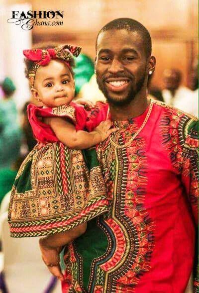 Fashion Ghana Magazine | Father-daughter | Angelina Print | Dashiki