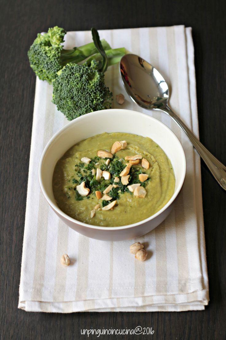 Broccoli and Chickpea Velvet Soup - Vellutata di broccoli e ceci | Un Pinguino in cucina