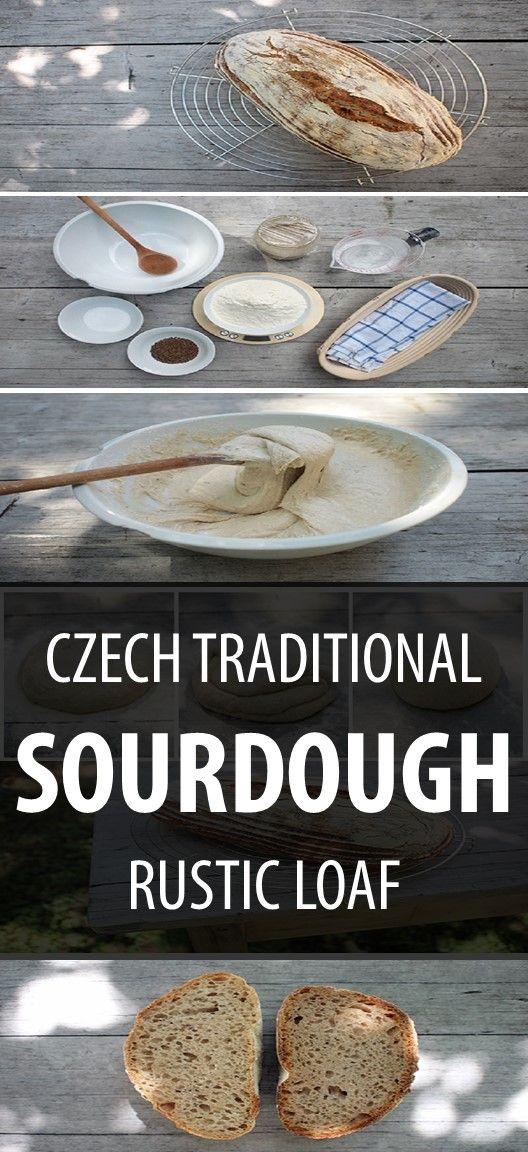 Make some traditional Czech sourdough rye bread.   #recipeoftheday #bread #recipes