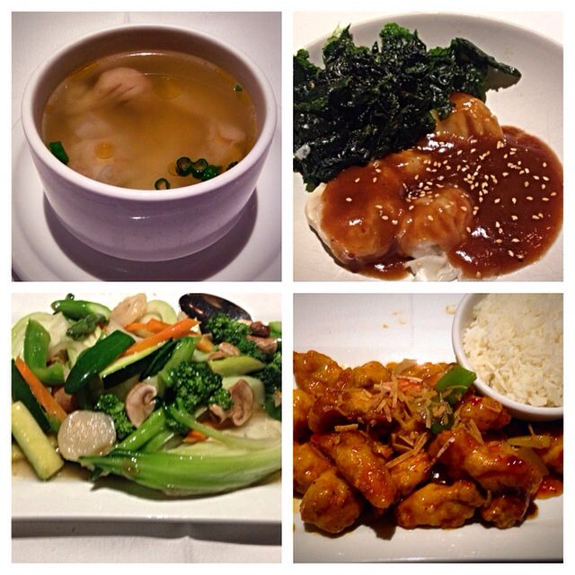 Cinq Parfum Asian food, delicious Asian food kinda of off the beaten path but really great won ton soup, dumplings and everything else I tried. The food is super fresh! Great general Tao chicken as well