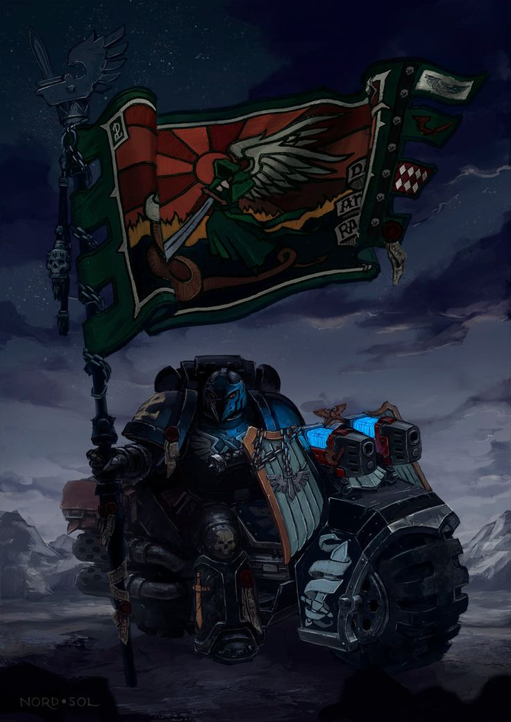 Dark Angels 2nd Company is known as the the Ravenwing, almost entirely made up of war bikes, meant for lightening fast assaults