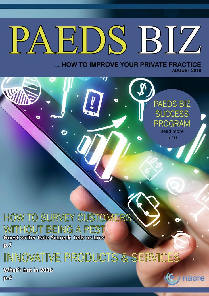 Paeds Biz E-Magazine - August Edition 2016