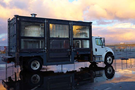 "Idea: turn a shipping ocntainer into a mobile coffee stand. This is from ""75 Shipping Container Concepts - From Industrial Box Coffee Shops to On-Demand Housing"""