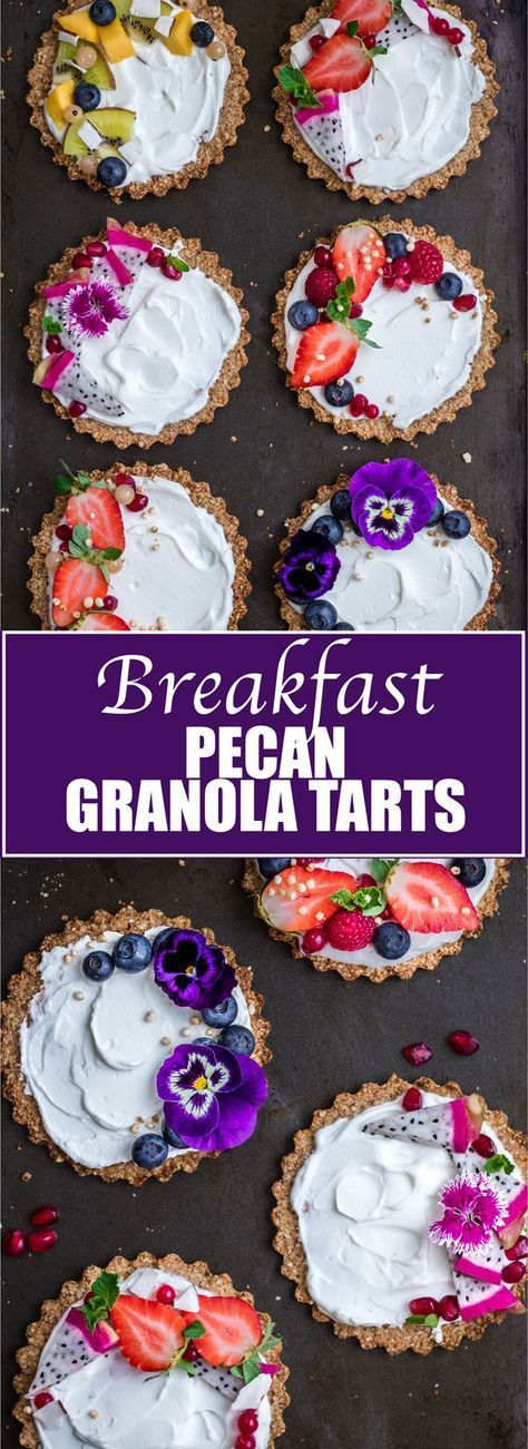 These granola tarts are so easy to make and are a fun change to your regular breakfast!