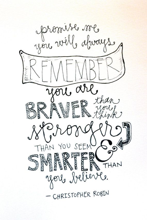 Christopher Robin Quote by WhimsyLettering on Etsy we love this quote, www.davidtuteraembellish.com