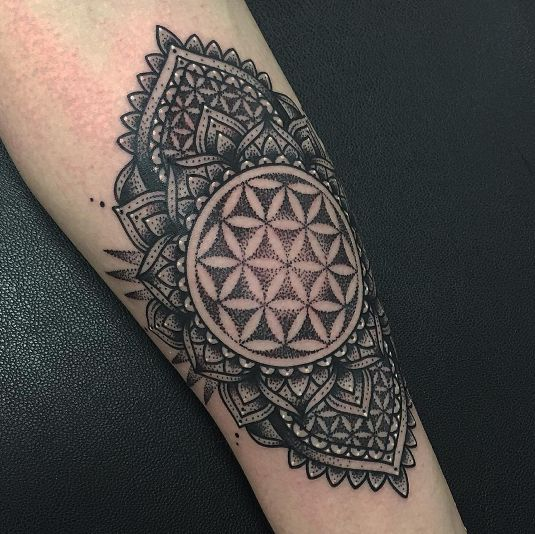 Flower Of Life Tattoo: Flower Of Life Mandala By Stacey Green @ Triple Six