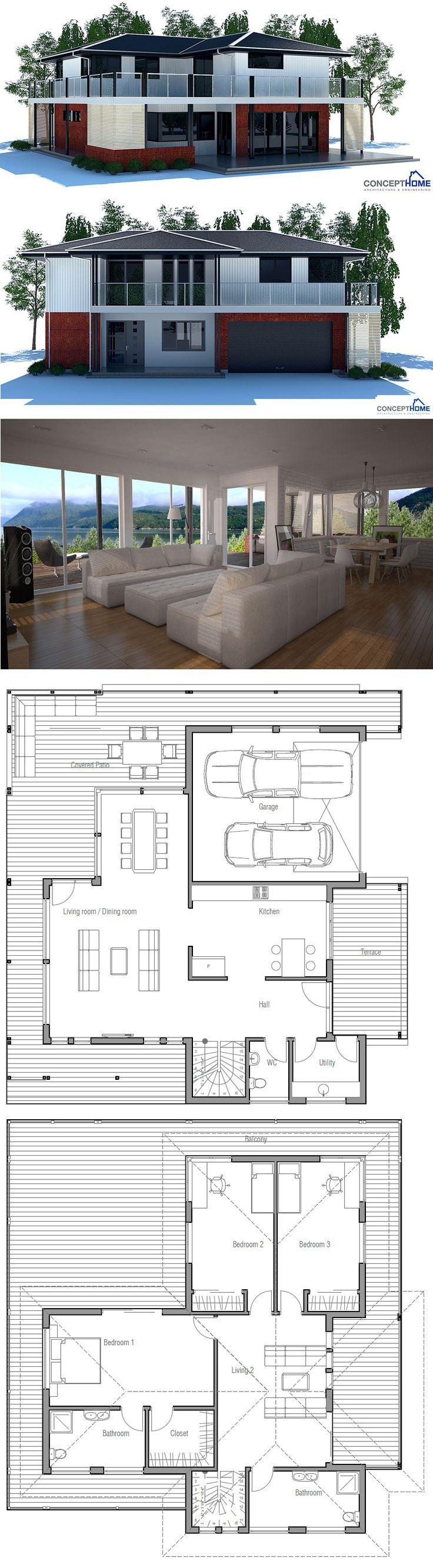 die besten 25 moderne hausentw rfe ideen auf pinterest. Black Bedroom Furniture Sets. Home Design Ideas