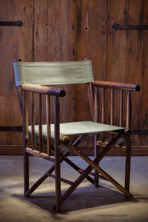 Leadwood director's chair. A beautifully constructed piece ideal for outdoor luxury living.