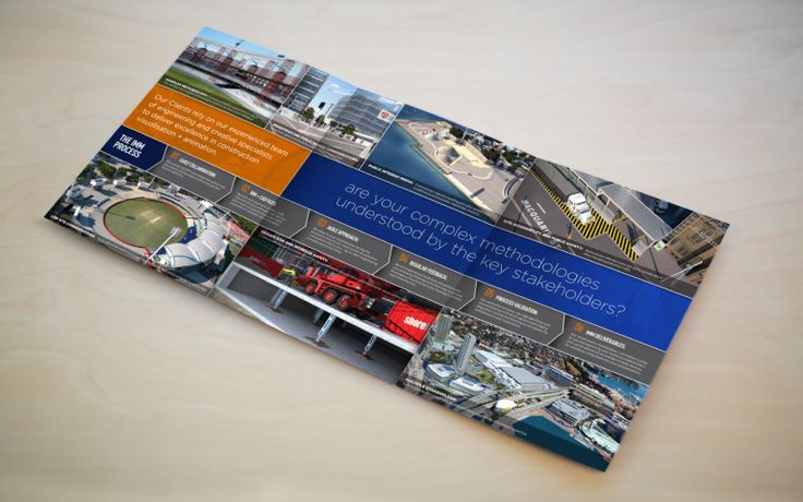 Impact Multimedia Roll Fold Brochure Cover - construction open