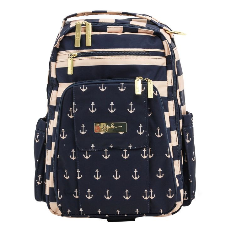 Ju-Ju-Be Be Right Back The Commodore Diaper Bag - Navy (Blue)/Cream
