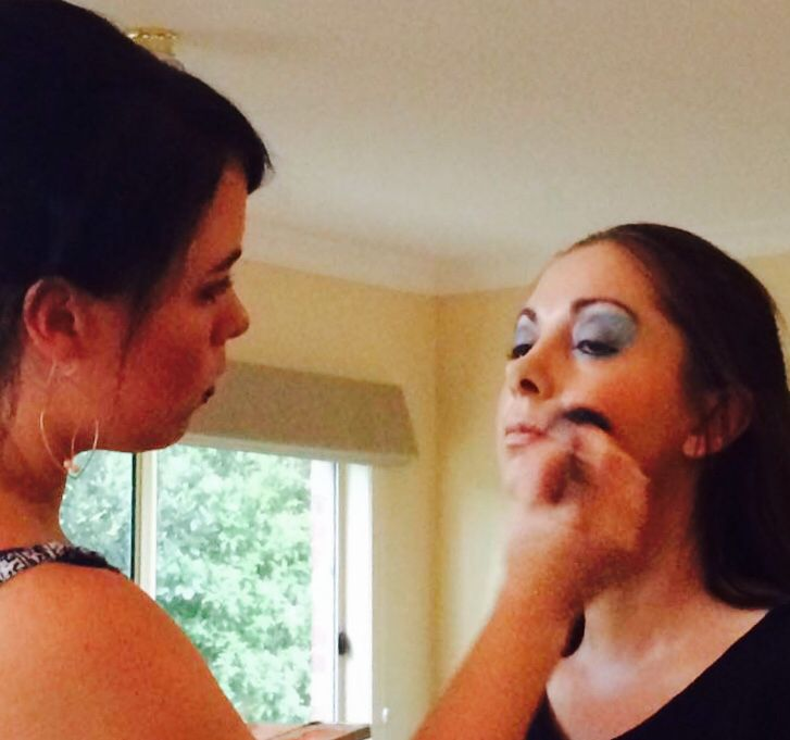 Makeup in progress for a 70's party. By Kara Addis.