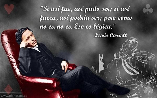 Cita de Lewis Carroll, autor de Alicia en el País de las Maravillas #Libros #citas #frases #quotes
