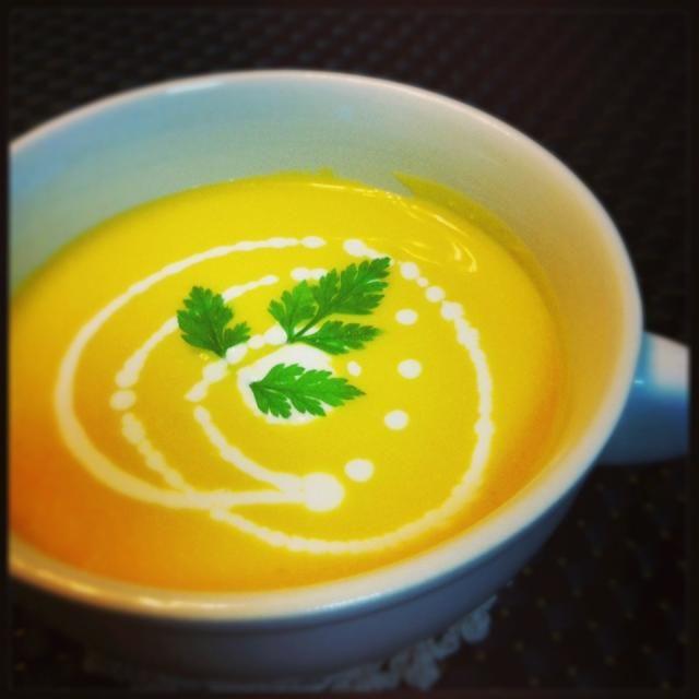 今朝は寒いのに冷製…^_^; まぁいっかー! - 162件のもぐもぐ - 冷製かぼちゃスープ by critters