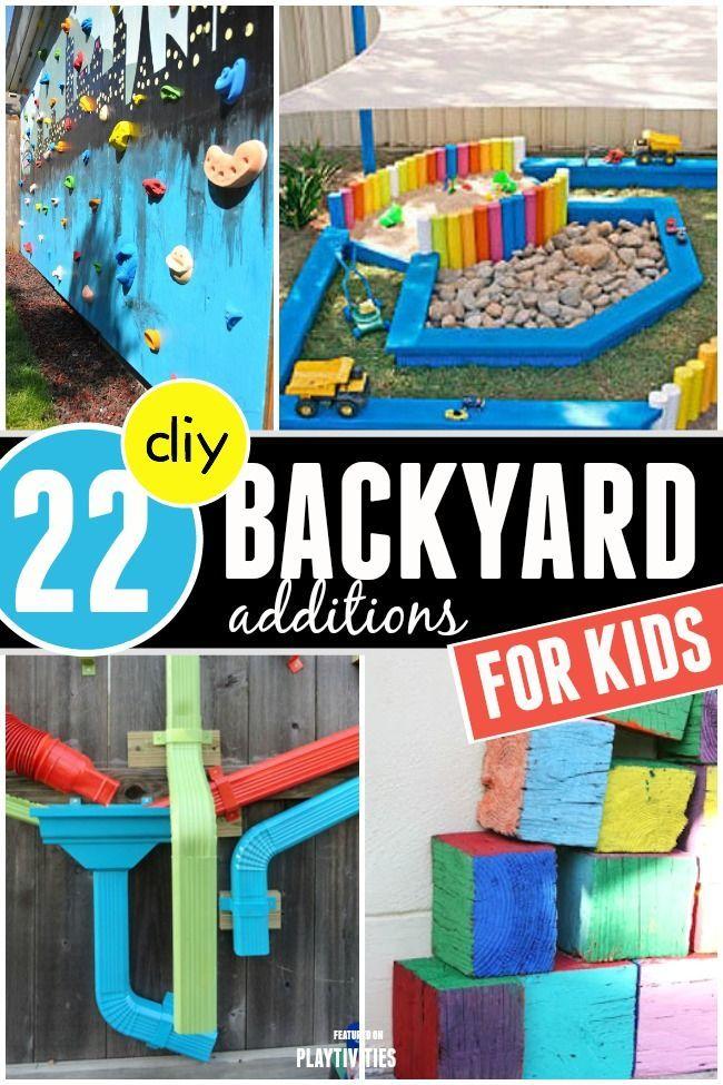 DIY Backyard Ideas For Kids - great for summer fun!