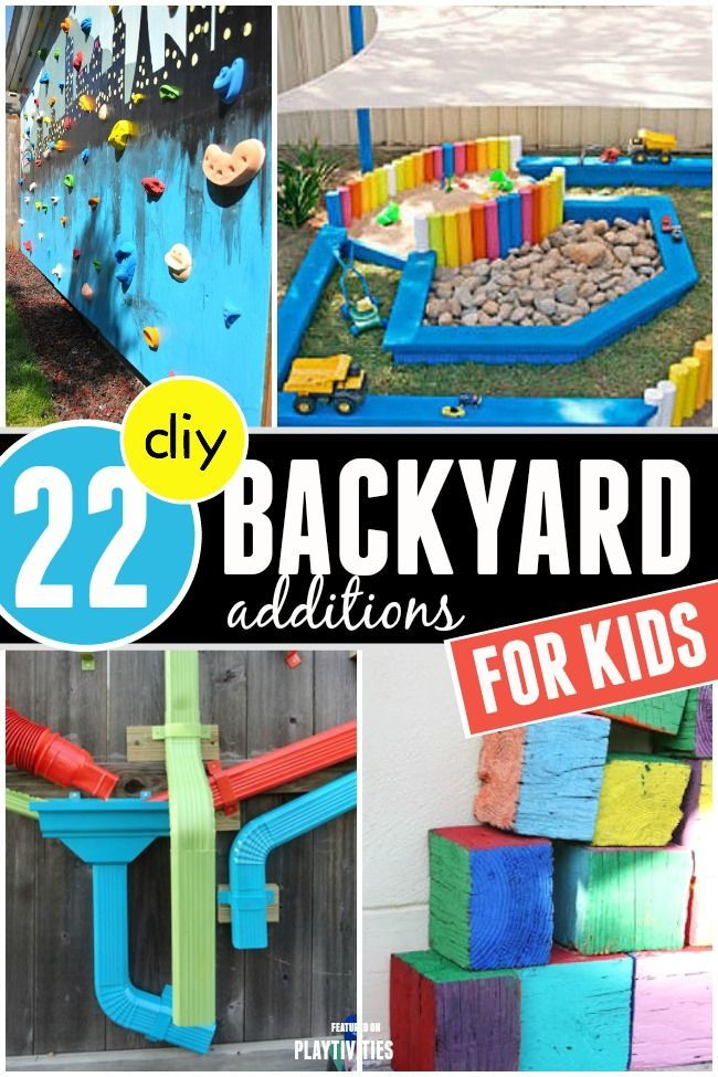 DIY Backyard Ideas For Kids - great for summer fun!