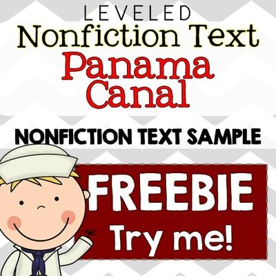 FREE Panama Canal Common Core Nonfiction Leveled Reading Passages from The Sweetest Thing on TeachersNotebook.com (23 pages)