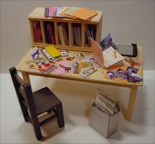 Dollhouse Miniatures Diy Tutorials: 53 Best .mini Craft Room Images On Pinterest