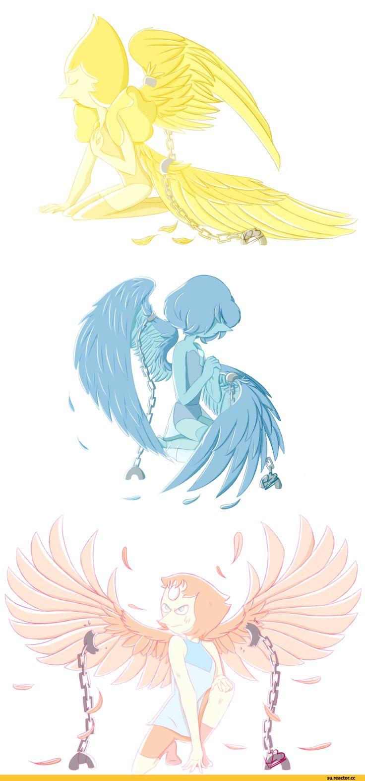 Steven universe,фэндомы,Animalcool,SU art,Yellow Pearl,SU Персонажи,Pearl (SU),Blue Pearl