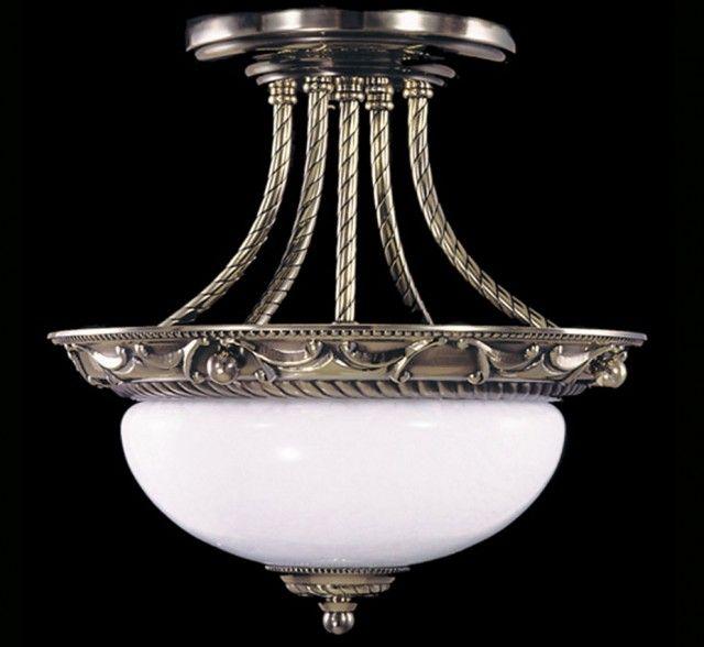 Napoleonic I Collection 12″ Dia Small Traditional Semi-Flush Ceiling Light