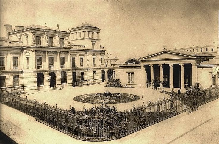 **French architects in Bucharest** Arch. Michel Sanjouard - Stirbei Palace from Bucharest, Romania (1833-1835, Neoclassic)