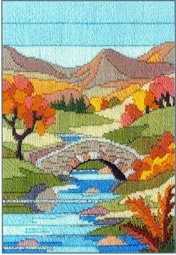 Mountain Autumn, longstitch embroidery kit by Derwentwater, UK
