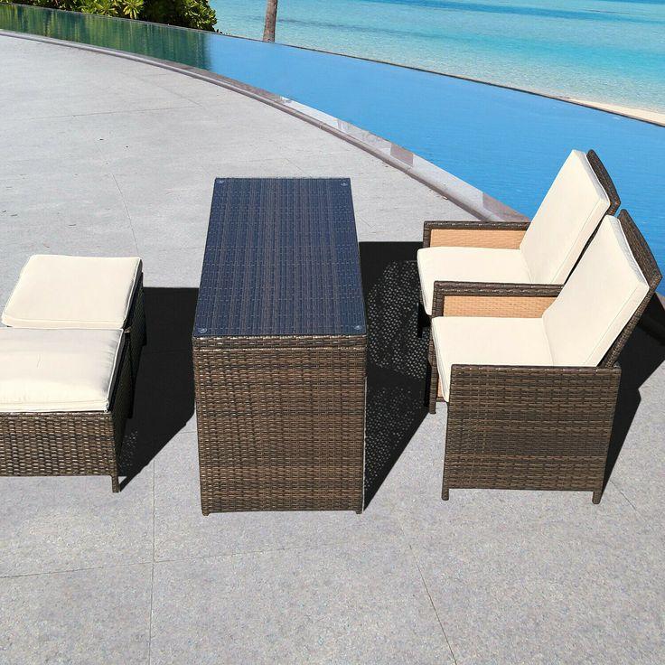 vidaXL Gartenessgarnitur 5-tlg. Akazienholz Gartenmöbel Sitzgarnitur Sitzgarnitur …   – Gartenmöbel