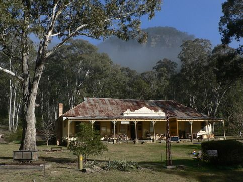 The historic Newnes Hotel - unlicensed now, with a museum and Info Kiosk