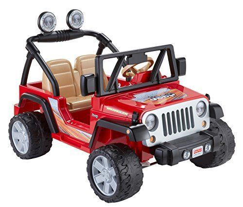 details about fisher price ride on toys cars for kids jeep wrangler lava red offroad 12v gifts cars ride on toys and kid