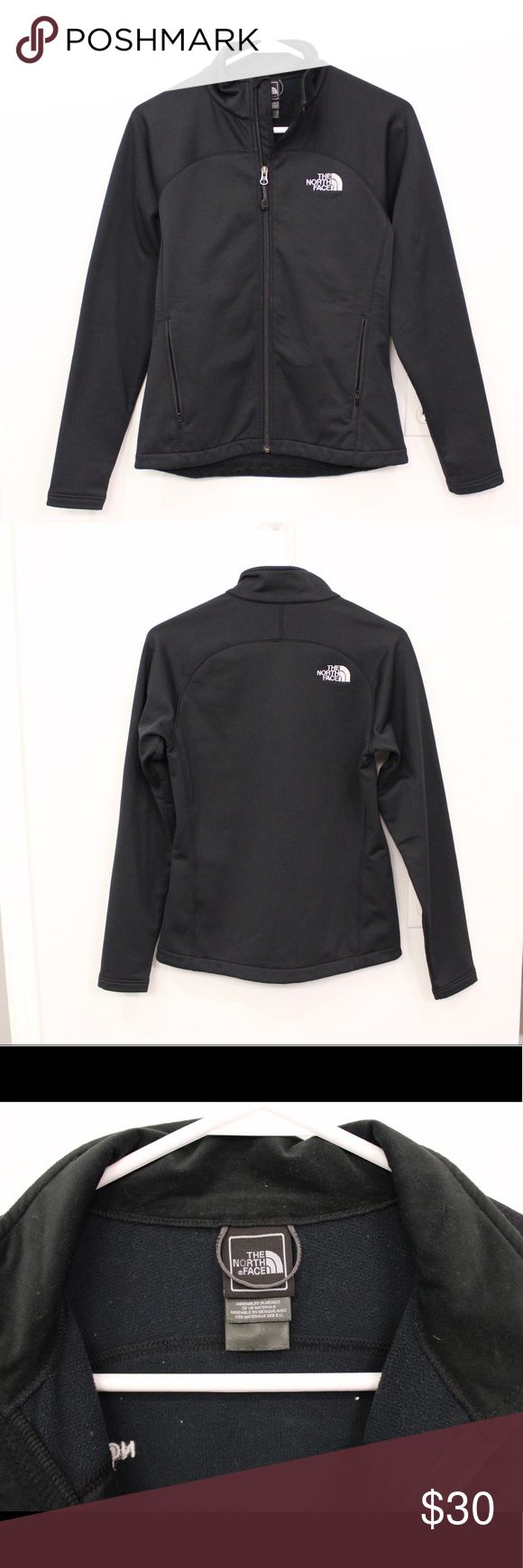 The North Face Jacket - Black The North Face Jacket - Black Soft-shell Jacket. Center zipper, zippered pockets Made of Polyester and Spandex 10% Purchased from The North Face Outlet, worn a few times, in great condition. Size: Small The North Face Jackets & Coats
