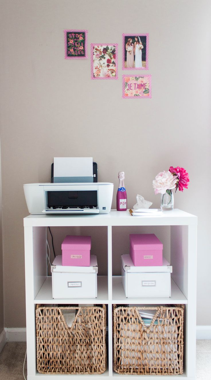 Bonnie Bakhtiari's Pink and Chic Home Office {Office Tour} | The Office Stylist