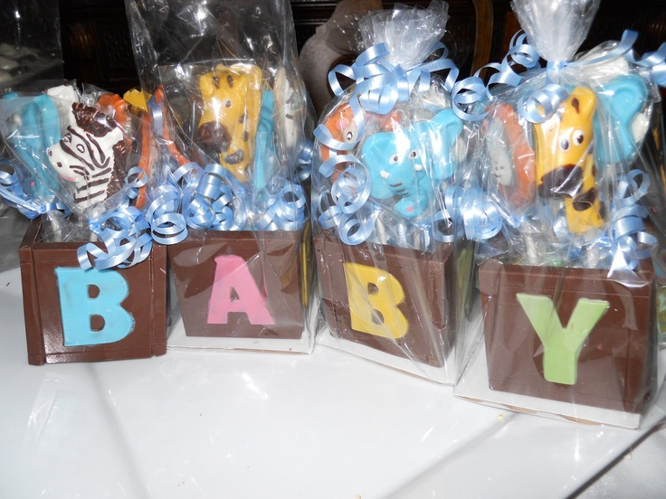 4 Baby Shower Party Gifts Large With 20 Safari Animal Or Baby Bottle  Lollipops In Each