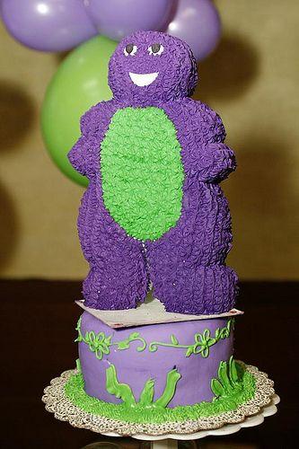Ideas para un pastel de Barney  | eHow en Español