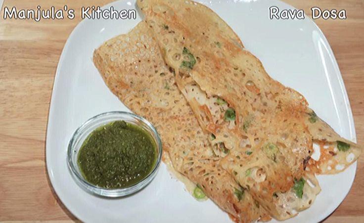 Rava Dosa- тончайшие и вкуснейшие, кружевные и хрустящие - вот что такое рава доса, или индийские блинчики из манки.
