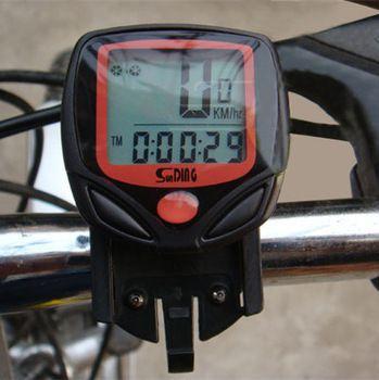 Computadora de la bicicleta ocio 14-Functions ciclo impermeable del odómetro del velocímetro con pantalla LCD ciclocomputadores MBI-67