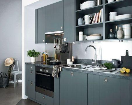 43 best Cuisine images on Pinterest Kitchen ideas, Black kitchens