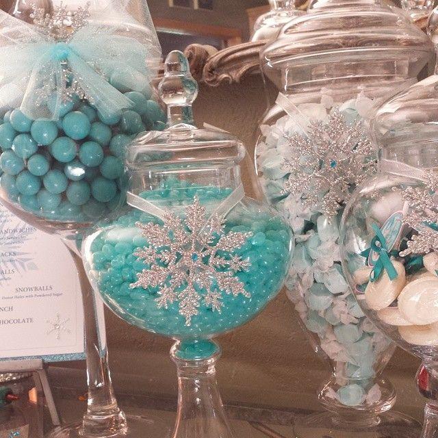 #Frozen  Custom Candy Buffet by Paper + Pop www.paperandpop.com http://instagram.com/p/p1BMjrusCX/?modal=true
