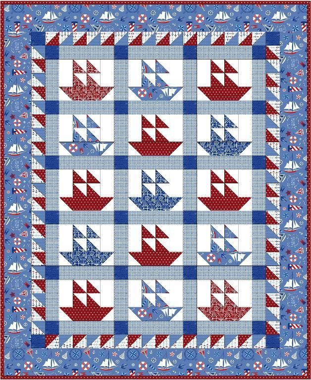 116 best QUILTS- SAILBOATS etc images on Pinterest | Modeling ... : sailboat quilt pattern - Adamdwight.com