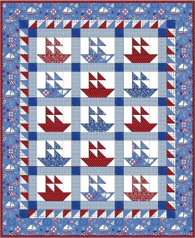 Sail Away Sailboat Quilt Pattern