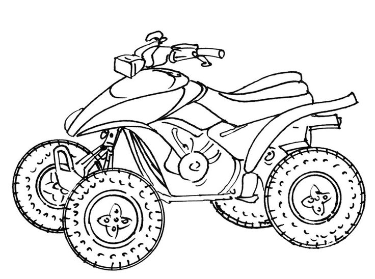 Квадроциклы картинки карандашом