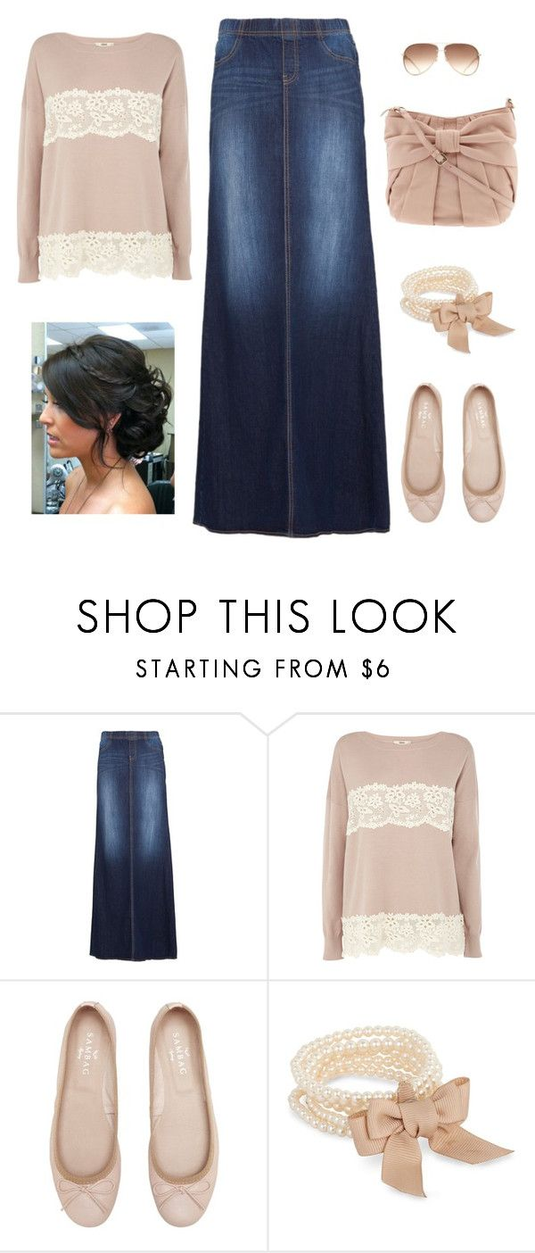 """Church outfit"" by faithann210 ❤ liked on Polyvore featuring MANGO, Oasis, J by Jasper Conran and RED Valentino"