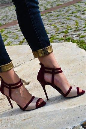 Soho Exclusive · Ayakkabı Şıklığı - Bordo Ten Süet Topuklu Ayakkabı 3473 %60 indirimle 69,99TL ile Trendyol da