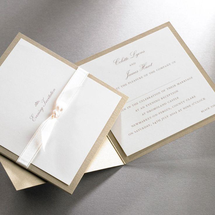 Wedding Invitations Ireland :: Finer Details :: Classic Wedding Invitation Collection :: Alice pocket fold invitation