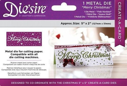 Diesire 5  x 2  Create a Card -  Merry Christmas  Die